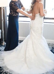 Allure Bridals '9266' size 14 used wedding dress back view on bride
