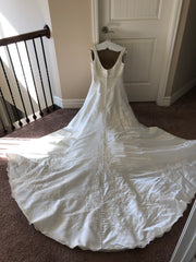 Jasmine 'F976' size 12 sample wedding dress back view on hanger