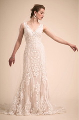 BHLDN 'Sheridan' size 8 new wedding dress front view on model