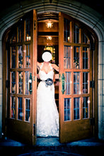 Load image into Gallery viewer, Enzoani 'Diana' size 4 used wedding dress front view on bride