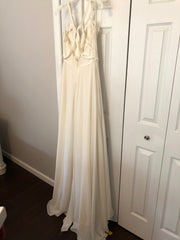 Hayley Paige 'Palermo' size 12 used wedding dress back view on hanger