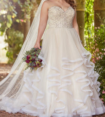 Essence of Australia 'Ball Gown' size 16 new wedding dress front view on bride