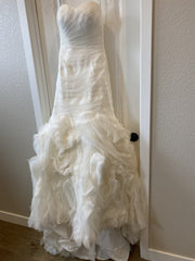 Maggie Sottero 'Primrose' size 4 used wedding dress front view on hanger