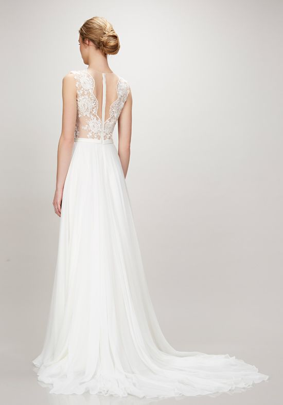 Theia 'Alicia' size 12 sample wedding dress back view on model