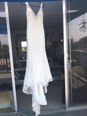 Alvina Valenta '9400' size 8 used wedding dress front view on hanger