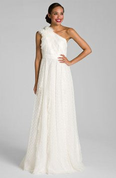 Carmen Marc Valvo 'Dotted Tulle' - Carmen Marc valvo - Nearly Newlywed Bridal Boutique - 2