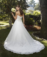 Casablanca Beaded Organza Ball Gown - Casablanca - Nearly Newlywed Bridal Boutique - 2