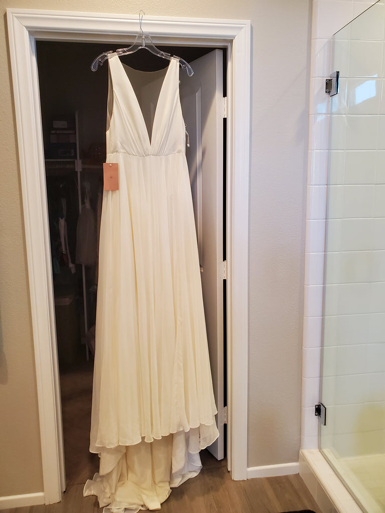 Jenny Yoo 'Jenny' size 4 new wedding dress front view on hanger