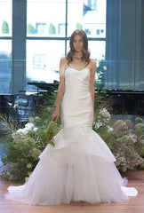 Monique Lhuillier 'Lennox' size 8 used wedding dress front view on model