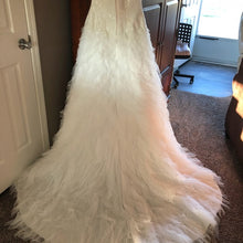 Load image into Gallery viewer, Galina Signature 'Swg' size 12 used wedding dress back view on bride