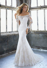 Load image into Gallery viewer, Mori Lee 'Karlee  '8207' size 10 new wedding dress front view on model