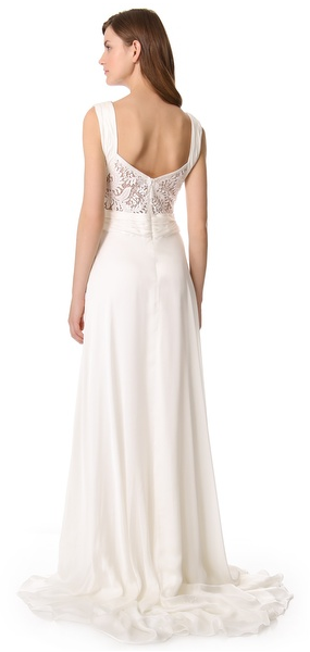 Theia Ruched Chiffon Gown - THEIA - Nearly Newlywed Bridal Boutique - 3