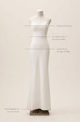 BHLDN 'Paige' size 6 new wedding dress front view on mannequin