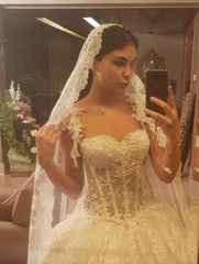 Pnina Tornai 'Princess Full Embroidered' size 8 new wedding dress front view on bride