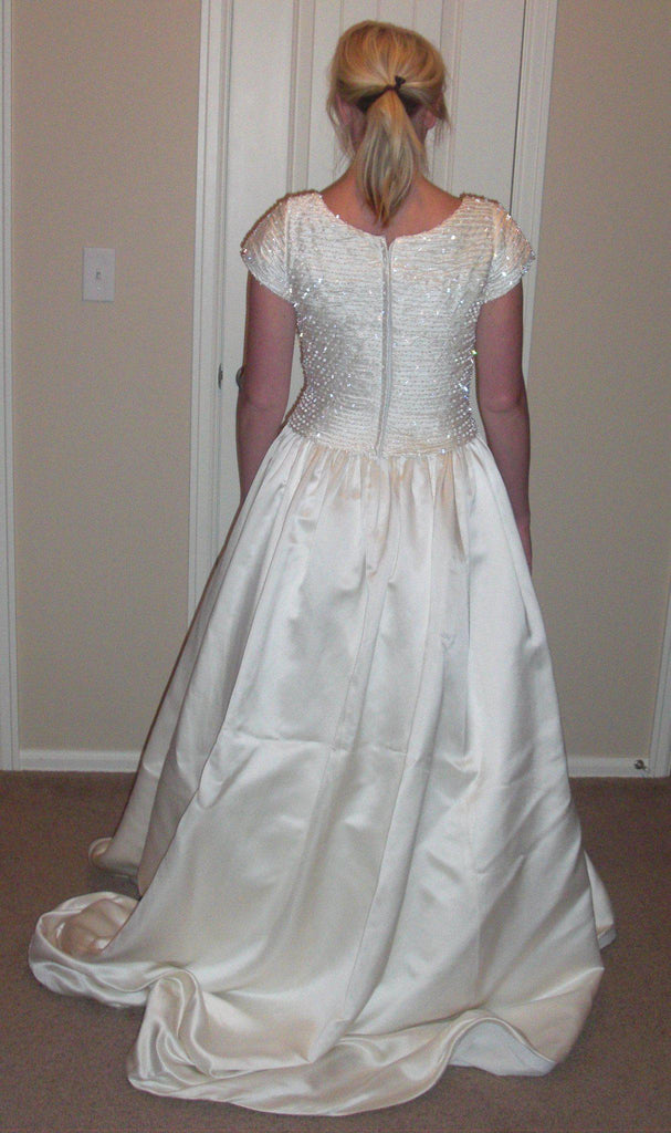Tomasina Cap Sleeve Ball Gown - Tomasina - Nearly Newlywed Bridal Boutique - 4