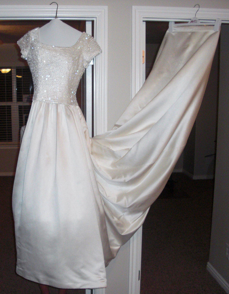 Tomasina Cap Sleeve Ball Gown - Tomasina - Nearly Newlywed Bridal Boutique - 2