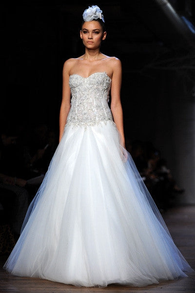 Monique Lhuillier 'Cypress' Corset Gown - Monique Lhuillier - Nearly Newlywed Bridal Boutique - 4