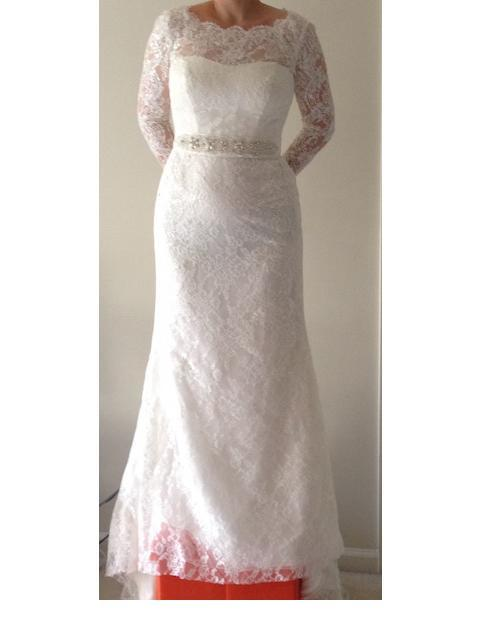 Galina Signature 'SWG685' wedding dress size-08 PREOWNED