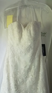 Kitty Chen 'Greta' size 10 new wedding dress front view on hanger