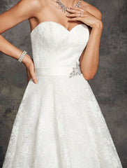 Ella Rosa 'Martizz' size 14 used wedding dress front view on model
