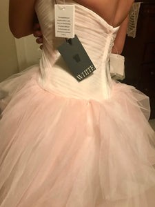 Vera Wang White 'Ombre Tulle' size 4 new wedding dress back view on bride
