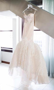 Inbal Dror '15-16' size 2 used wedding dress front view on hanger