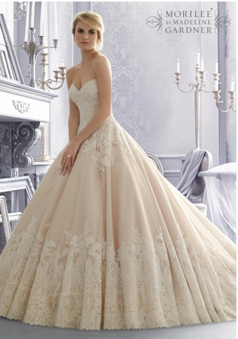 Mori Lee 'Lace Ball Gown'