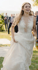Ines Di Santo 'Coco' size 12 used wedding dress front view on bride