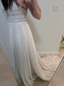 Pronovias 'Diana' size 8 new wedding dress front view on bride
