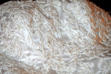 Load image into Gallery viewer, A.C.E. ' 2109' size 6 used wedding dress view of fabric