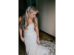 Ines Di Santo 'Honey' size 8 used wedding dress front view on bride