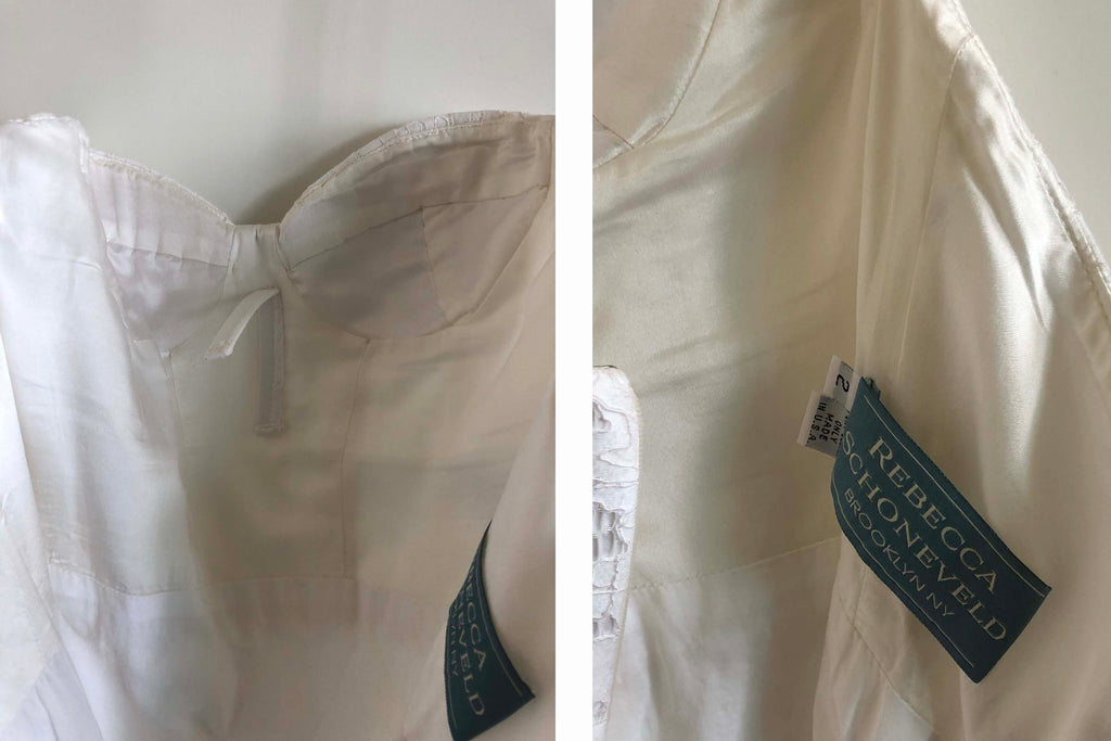 Rebecca Schoneveld 'Ines' size 2 used wedding dress front and back views