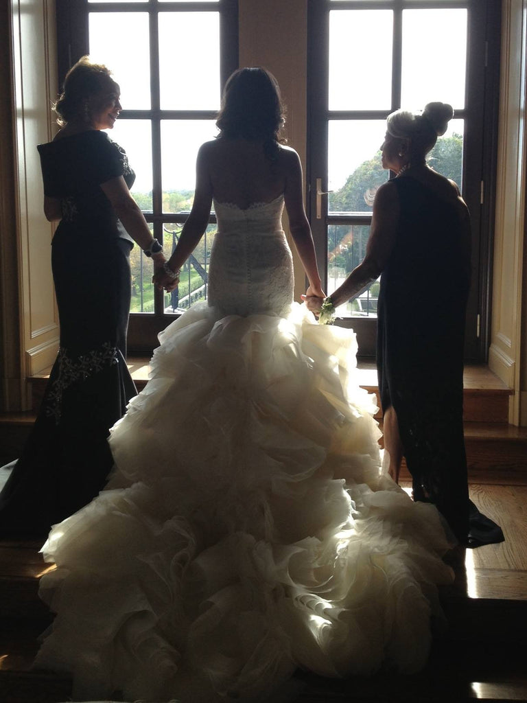 Lazaro LZ3253 Ivory Organza Mermaid Ball Gown - Lazaro - Nearly Newlywed Bridal Boutique - 5