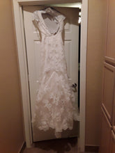 Load image into Gallery viewer, Demetrios '98241' size 6 used wedding dress back view on hanger