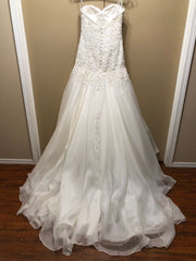 Martina Liana '411' size 10 new wedding dress back view on hanger