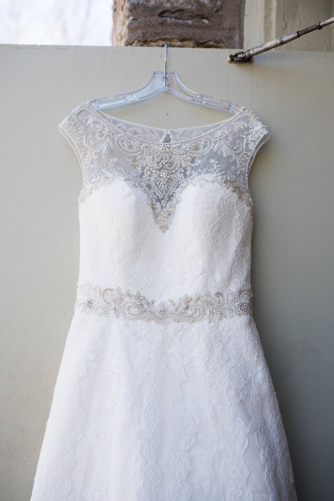 Casablanca 'LILAC' wedding dress size-18 PREOWNED