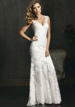 Load image into Gallery viewer, Allure Bridals 'Last Minute Bride' size 2 used wedding dress front view on model