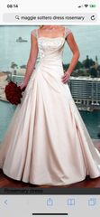 Maggie Sottero 'Rosemary Leigh' size 14 used wedding dress front view on model