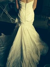 Load image into Gallery viewer, Marisa Fit And Flare with Organza Flower - Marisa - Nearly Newlywed Bridal Boutique - 4