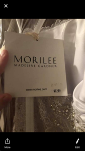 Mori Lee 'Madeline Garden' size 14 new wedding dress view of tag