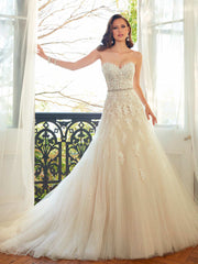Sophia Tolli 'Prinia' size 12 new wedding dress front view on model