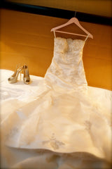 Galleria dell Sposa Ivory Silk Fit-to-Flare Wedding Dress - Galleria dell Sposa - Nearly Newlywed Bridal Boutique - 1