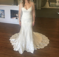 Maggie Sottero 'Nola' size 8 new wedding dress front view on bride