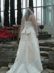 David's Bridal '9T9218' size 18 new wedding dress back view on bride
