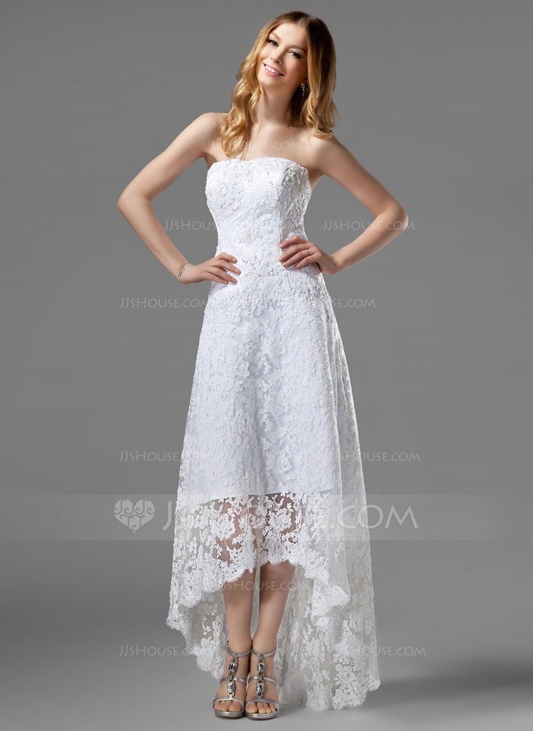 JJS House '226' size 14 new wedding dress front view on model
