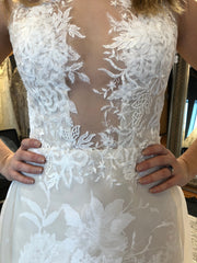 Ines Di Santo 'Coco' size 12 used wedding dress front view close up