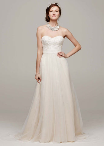David's Bridal 'Strapless A Line'