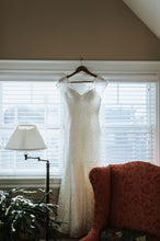 Load image into Gallery viewer, Augusta Jones 'Jan' size 10 used wedding dress front view on hanger