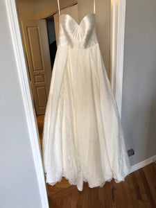 Kelly Faetanini 'Aster' size 10 new wedding dress front view on hanger