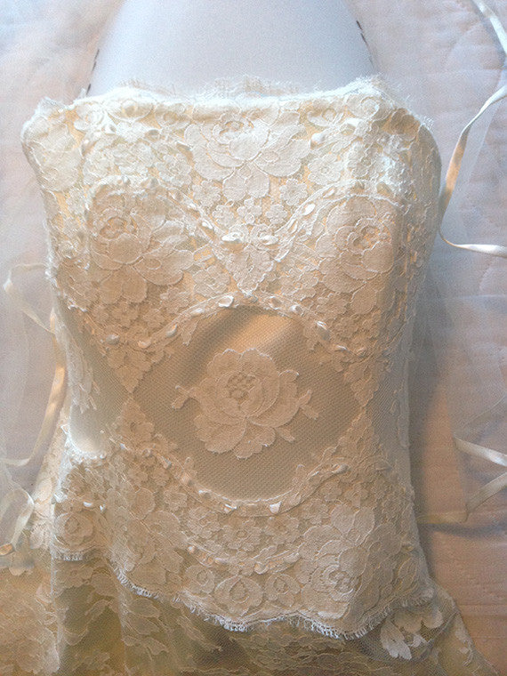 Melissa Sweet Hallie Strapless Wedding Dress - Melissa Sweet - Nearly Newlywed Bridal Boutique - 3